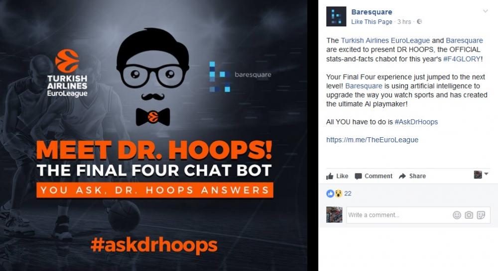 Πιάσε κουβέντα με τον Dr Hoops, το chatbot της Euroleague