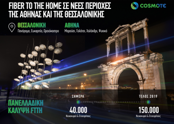 Cosmote: Fiber To The Home σε νέες περιοχές της Αθήνας και της Θεσσαλονίκης