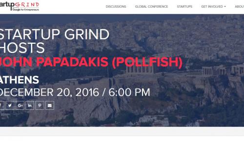 Χριστουγεννιάτικο Startup Grind Athens με τον Γιάννη Παπαδάκη της Pollfish