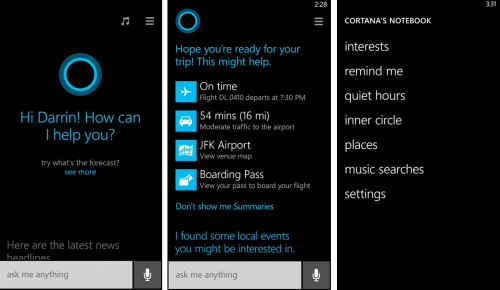 Αποκαλύφθηκε η Cortana